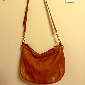 JCrew Biennial Leather Hobo in Saddle Tan